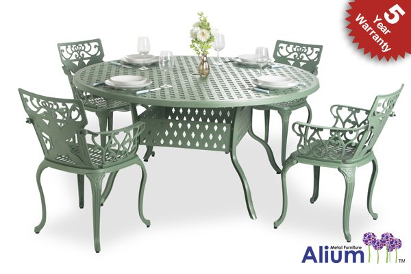 Alium™ Lincoln 4 Seater Round Dining Set