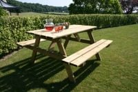 Wooden Picnic Table 1.5m x 1.5m