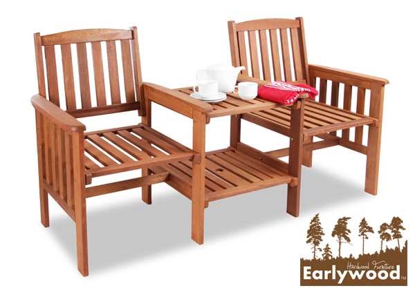 Earlywood™ Boston Hardwood Garden Companion Seat