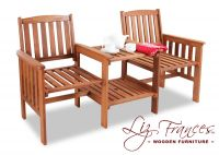 Boston Hardwood Garden Companion Seat by Liz Frances™