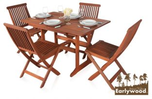 Earlywood™ Ilford 4 Seater Extendable Hardwood Garden Furniture Set