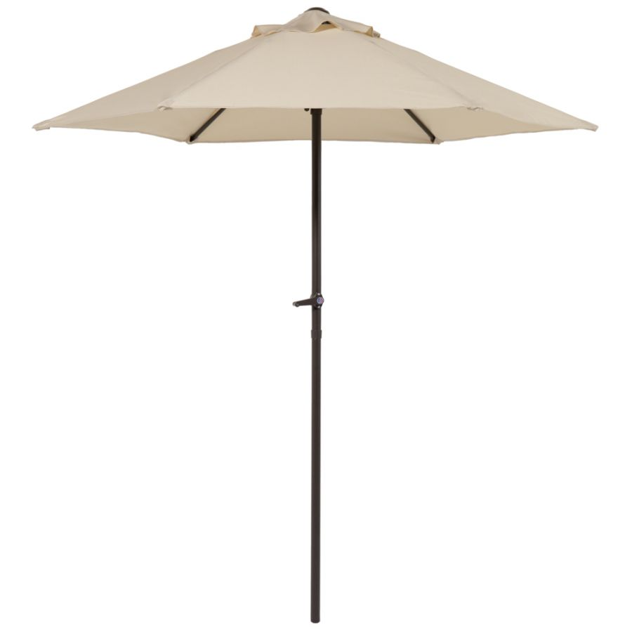 Hadleigh 2.1m Steel Crank Parasol In Ivory By Hectare