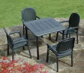 Anthracite Maestrale 90 Standard With 04 Anct Kappa Chairs