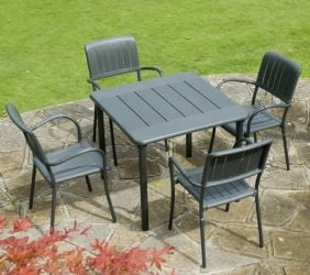 Anthracite Maestrale 90 Standard With 04 Anct Musa Chairs