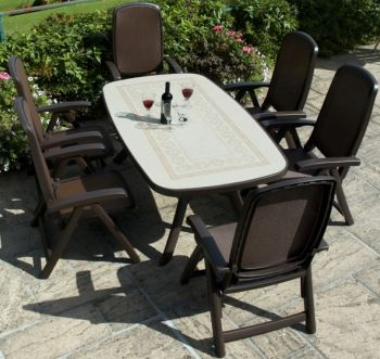 Coffee Toscana 165 Ravenna With 06 Coffee Delta Chairs