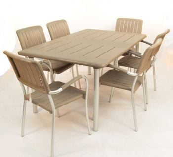 Turtle Dove Maestrale 220 Standard With 06 Turtle Dove Musa Chairs