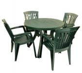 Green Toscana 100 Plain With 04 Green Diana Chairs
