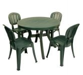 Green Toscana 100 Plain With 04 Green Elba Chairs