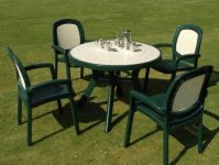 Green Toscana 100 Ravenna With 04 Green Beta Chairs