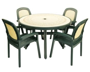 Green Toscana 120 Ravenna With 04 Green Beta Chairs