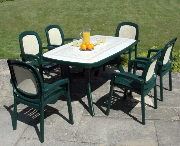 Green Toscana 165 Ravenna With 06 Green Beta Chairs