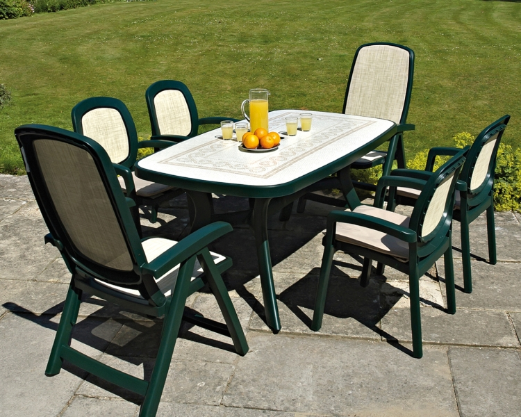 Green Toscana 165 Ravenna With 24 Delta & Beta Chairs