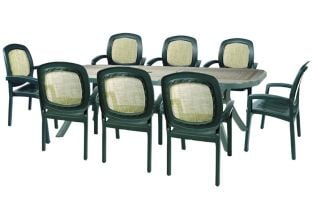 Green Toscana 250 Ravenna With 08 Green Beta Chairs