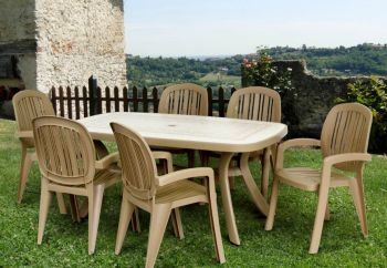 Havanna Toscana 165 Ravenna With 06 Havanna Creta Chairs