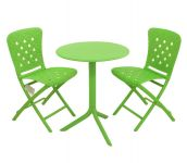 Lime Step Standard With 02 Lime Zac Chairs