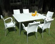 White Maestrale 220 Standard With 06 White Dama Chairs
