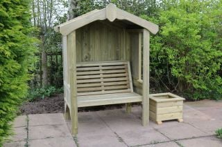 Enclosed Wooden Two Seater Cottage Arbour 1.2m (4ft)