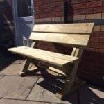 1.2m 2 Seater Aschome Bench
