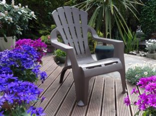 Arondeck Deluxe Garden Chair in Taupe
