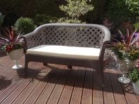 Ricardi Taupe Bench With Cushon