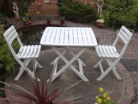 Tropea Camping Bistro Set in White
