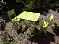 Tropea Camping Bistro Set in Green