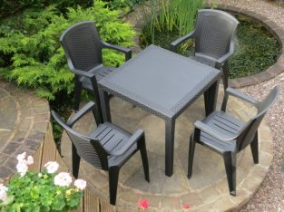 Palmi Black 5 Piece Dining Set