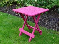 Folding Side Table in Pink - 44cm