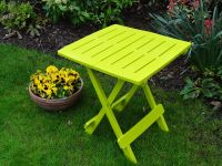 Folding Side Table in Green - 44cm
