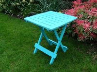 Folding SIde Table in Blue - 44cm