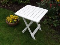 Folding Side Table in White - 44cm