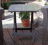 Folding SIde Table in Taupe - 44cm