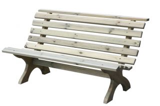 Lilly 1.5m (4ft 11in) Wooden Garden Bench