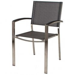 Alexander Rose Avant Classic Stackable Chair in Graphite