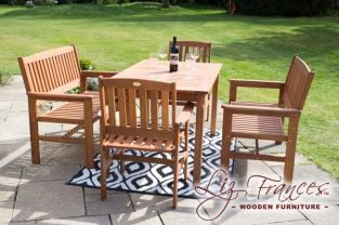 Oakham 6 Seater Hardwood Garden Furniture Set By Liz Frances™