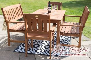 Richmond 6 Seater Hardwood Garden Furniture Set by Liz Frances™