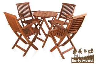 Earlywood™ Ilford 4 Seater Hardwood Armchair Garden Furniture Set