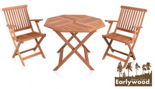 Earlywood™ Ilford 2 Seater Hardwood Armchair Garden Bistro Set