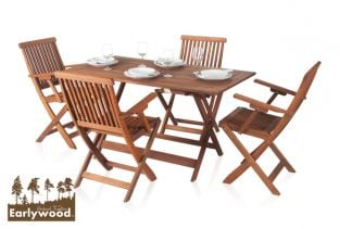 Earlywood™ Ilford 4 Seater Armchair Hardwood Garden Furniture Set