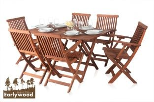 Earlywood™ Ilford 6 Seater Armchair Hardwood Garden Furniture Set