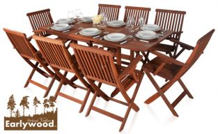 Earlywood™ Ilford 8 Seater Armchair Extendable Hardwood Garden Furniture Set