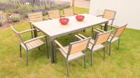 Sol Bistro Syn-Teak 8 Seater Teak Asian Restaurant Bistro Stackable Set