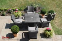 Maze Rattan - Texas 4 Seater Square Dining Set in Grey