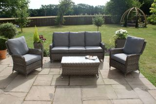 Maze Rattan - Victoria 2 Seat High Back Sofa Set