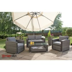 Maze Rattan - Victoria 4 Seater Sofa Set in Grey
