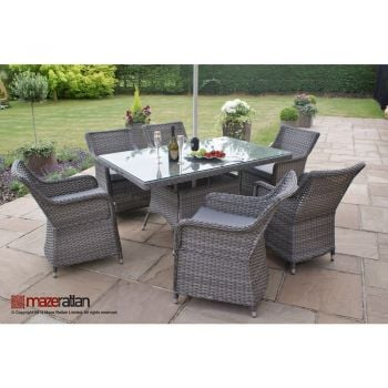 Maze Rattan - Victoria 6 Seater Rectangular Dining Set