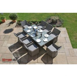 Maze Rattan - Victoria 8 Seater Rectangular Dining Set