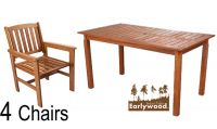 Earlywood™ 4 Seater Kendal and Oakham Dining Set