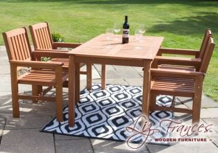 4 Seater Kendal and Oakham Dining Set by Liz Frances™