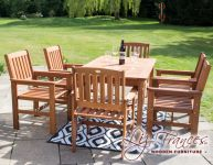 6 Seater Kendal and Oakham Dining Set by Liz Frances™